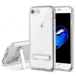 iPhone 7 / iPhone 8 Case Clear Hybrid Protector- Silver