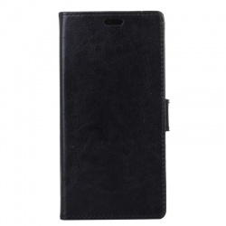 Vodafone Smart N8 PU Leather Wallet Case  Black