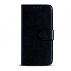 Huawei P20 Lite Leather Wallet Case Black