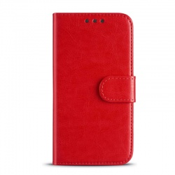 Huawei P20 Lite Leather Wallet Case Red