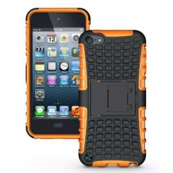 iPod Touch (5th/6th Generation)  Hybrid Protector Stand Cover Black/Orange