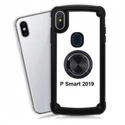 Huawei P Smart 2019 Black Case With Ring Holder