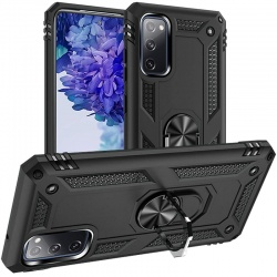 Samsung Galaxy A52 Case - Black Ring Armour