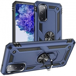 Samsung Galaxy A52 Case - Blue  Ring Armour