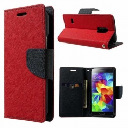 Samsung Galaxy S5 Fancy Diary Case  Red