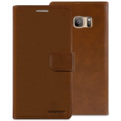 Samsung Galaxy S7 Bluemoon Wallet Case  Brown