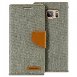 Samsung Galaxy S7 Canvas Wallet Case  Grey