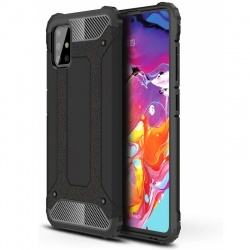 Samsung Galaxy A71 Case - Black Luxury Armor