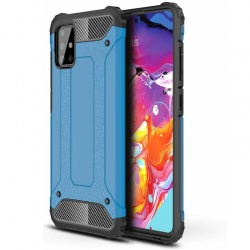 Samsung Galaxy A71 Case - Blue Luxury Armor