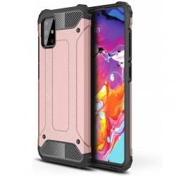 Samsung Galaxy A71 Case - Rosegold Luxury Armor