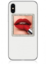 Silver Square Crystals Phone Mirror | iDecoz