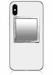 Silver Square Phone Mirror | iDecoz