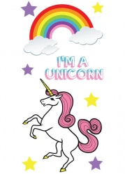 Unicorn Sticker Tags | IDecoz