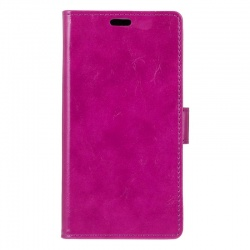 Vodafone Smart V8 PU Leather Wallet Case  Purple