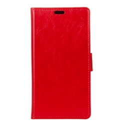 Vodafone Smart V8 PU Leather Wallet Case  Red