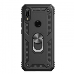 Huawei Y6 2019 Ring Armor Cover - Black