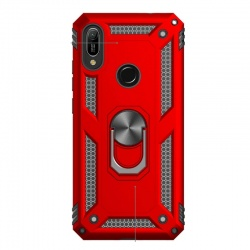 Huawei Y6 2019 Ring Armor Cover - Red