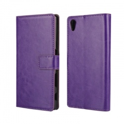 Sony Xperia Z5 PU Leather Wallet Case Purple