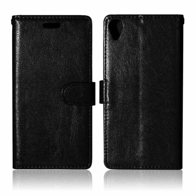Sony Xperia X PU Leather Wallet Case Black