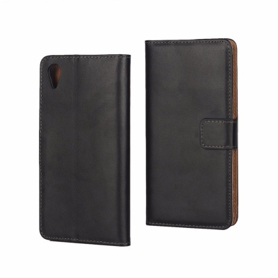 Sony Xperia XA PU Leather Wallet Case Black