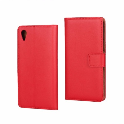 Sony Xperia XA PU Leather Wallet Case Red