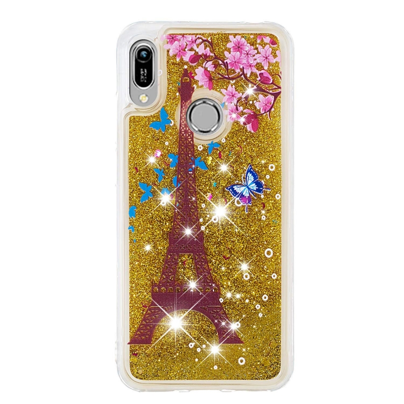 Huawei Y6 2019 Liquid Glitter Case -Paris