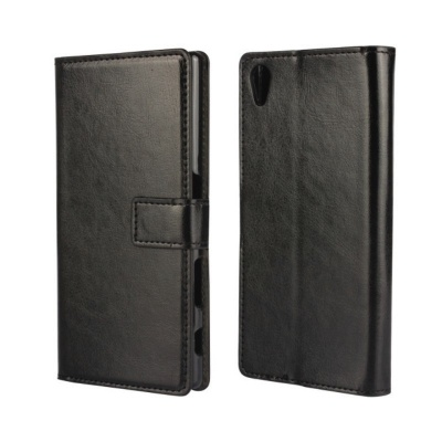 Sony Xperia Z5 PU Leather Wallet Case Black